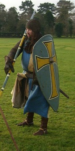 Sir Adrian of Saltwood, Lord de Bec, in his armour