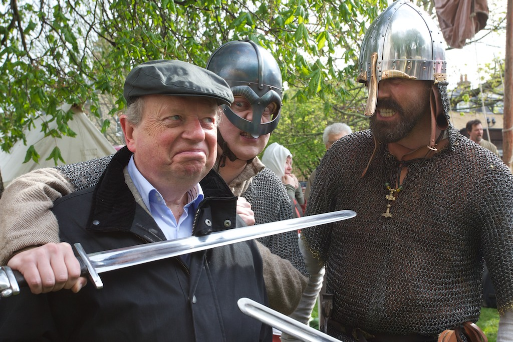 A TV personality meets some Vikings  – © ITV Studios 2012