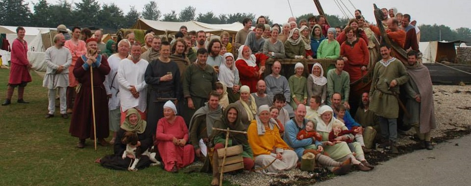 "A group photo of Regia at the 2013 ""Port Diorama"" at Detling – © Alison Offer 2013"